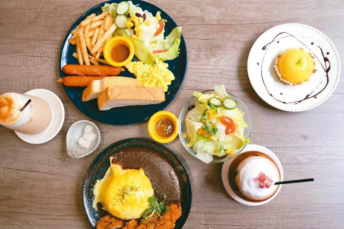新北市板橋區安咖啡早午餐以「日安!德國先生」(左上)最受歡迎。 記者張曼蘋/攝影