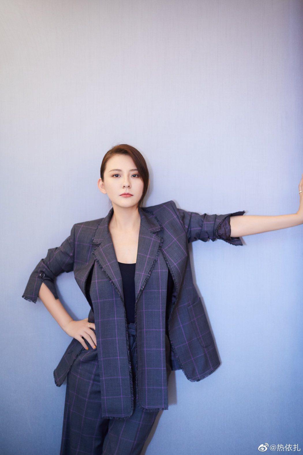 女星熱依扎(圖)否認曾花錢攻擊佟麗婭。圖/取自微博