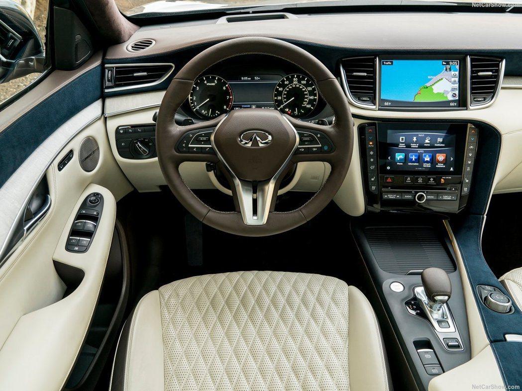 新年式車型更換全新雙螢幕Infiniti InTouch系統。 摘自Infini...