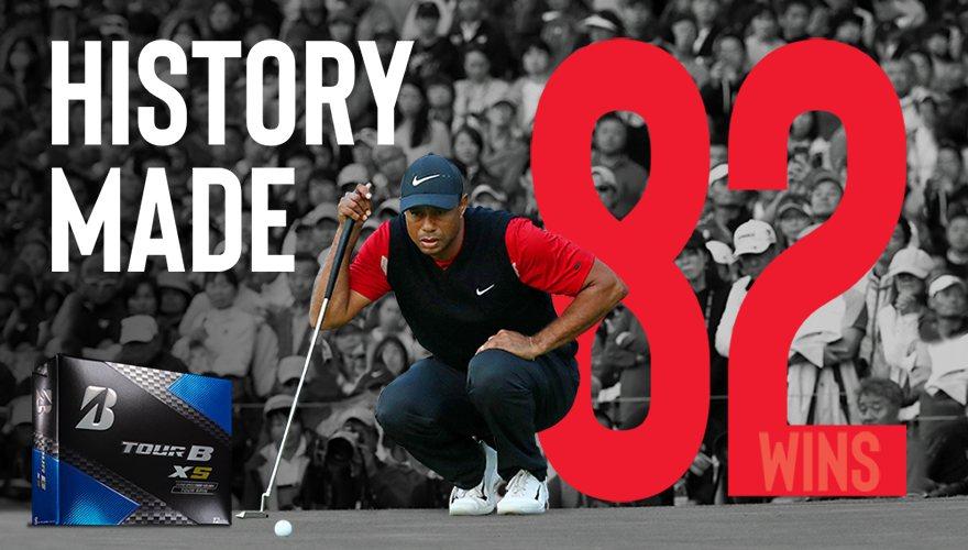 BRIDGESTONE與Tiger Woods攜手追平PGA巡迴賽82場勝場紀錄...