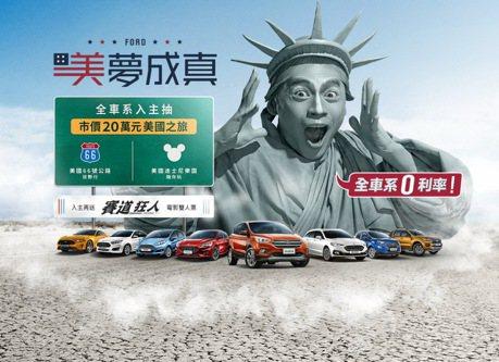 入主Ford讓美夢成真 抽市值20萬元美國雙人之旅