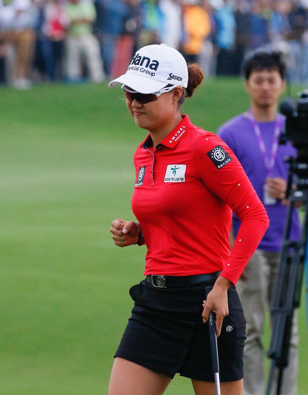 澳洲韓籍選手李旻姬(Minjee Lee)連續兩年在這場賽事屈居亞軍。 裙襬...