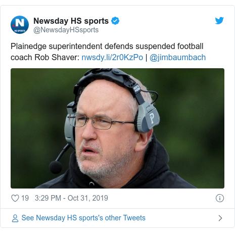 美國紐約州普蘭尼基高中的美式足球隊教練薛佛。取自推特