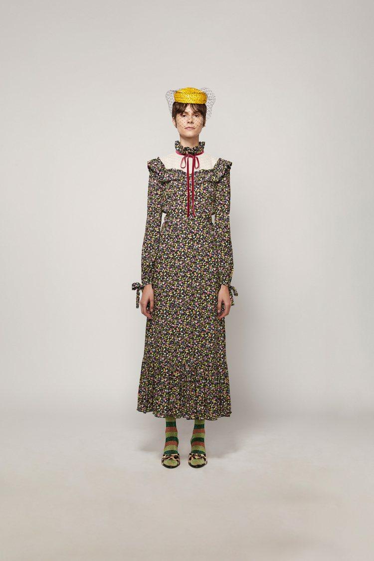 花園碎花復古洋裝,29,900元。圖/Marc Jacobs提供