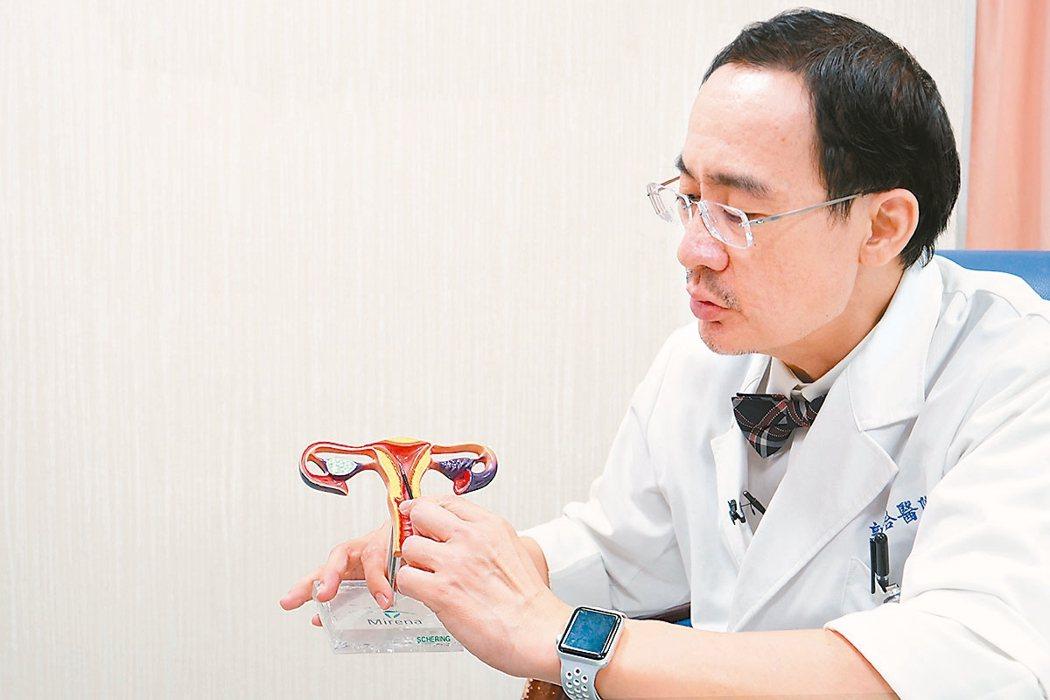 郭綜合醫院婦產部部長林大欽表示,許多女性有子宮異常出血困擾,建議積極治療。 圖/...