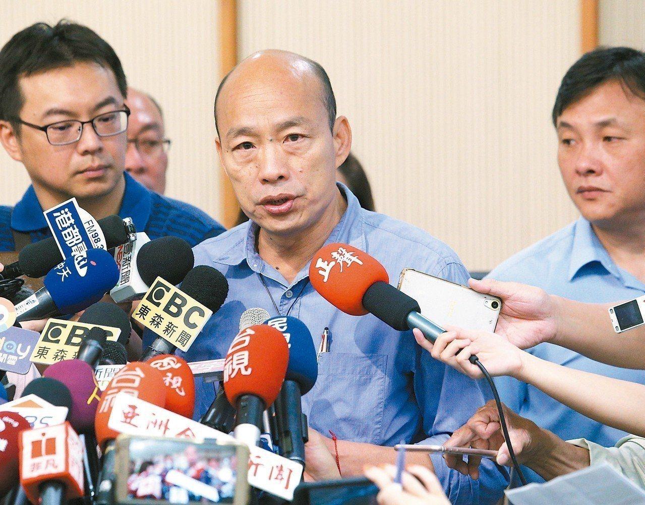 韓國瑜提出的「學貸免息」政策,遭教育部質疑有套利風險。圖/聯合報系資料照片