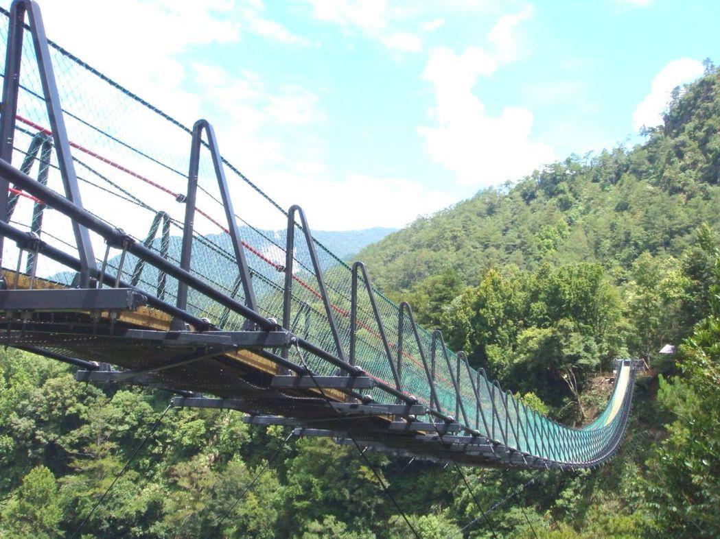 南投縣奧萬大國家森林遊樂區吊橋完工十年,發生首起墜橋身亡事故。圖/南投林管處提供