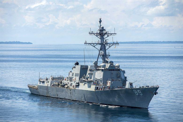 馬斯廷號驅逐艦。圖╱美國海軍檔案照