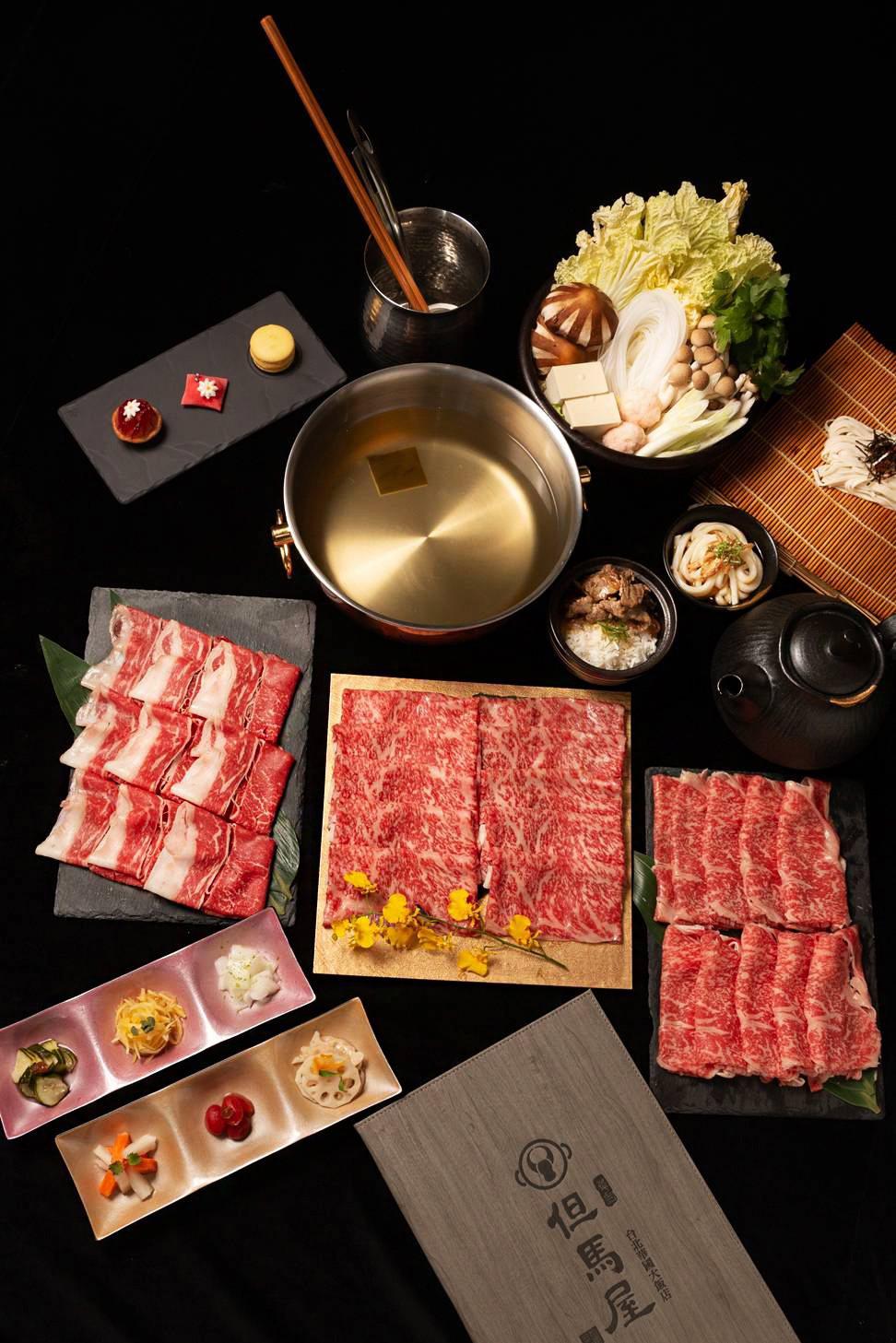 華國但馬屋帝國黑毛和種三品3人套餐。華國大飯店/提供
