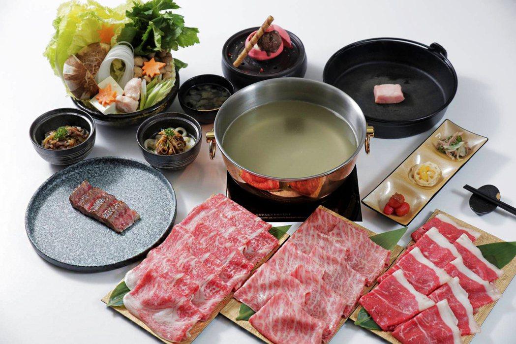 華國但馬屋和牛三吃(Shabu Shabu. Sukiyaki. 火焰炙燒)。華...