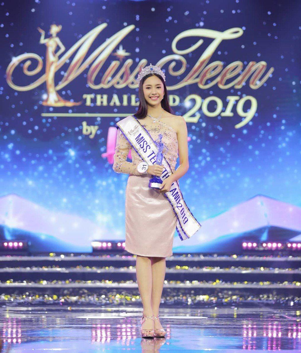15歲的Pinn在2019年泰國妙齡小姐比賽奪冠。 圖/擷自IG