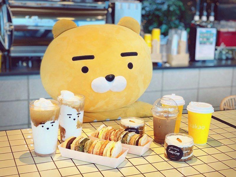 KAKAO FRIENDS濟州專門店的萊恩咖啡館 圖/張芳瑜攝影