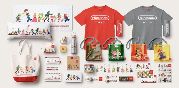 現場販售各式「超級瑪利歐兄弟」周邊商品,吸引粉絲搶購。圖/取自Nintendo ...