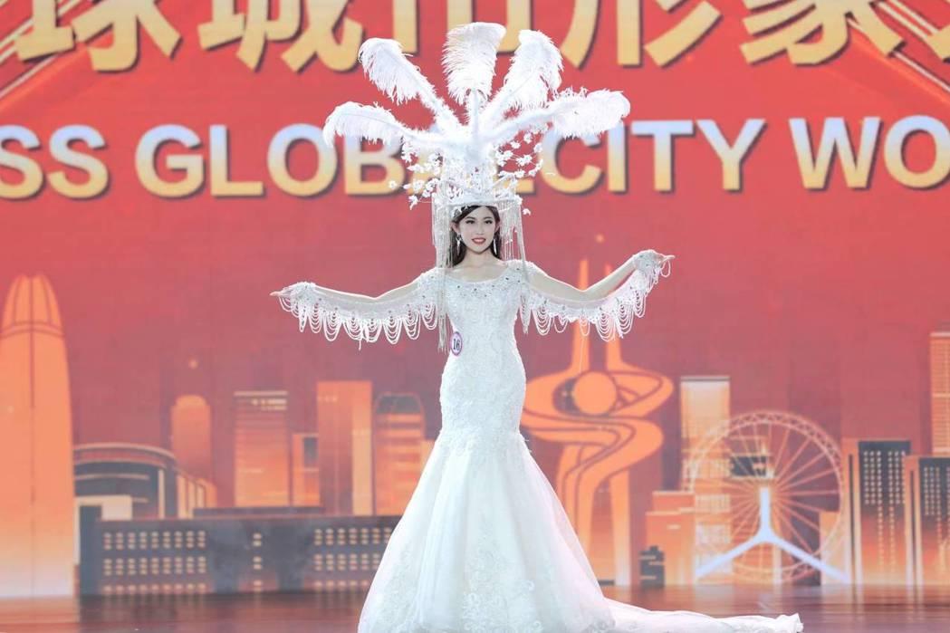 台灣甜心柯純心在世界盃表現亮眼。圖/中華全球城市選拔協會提供