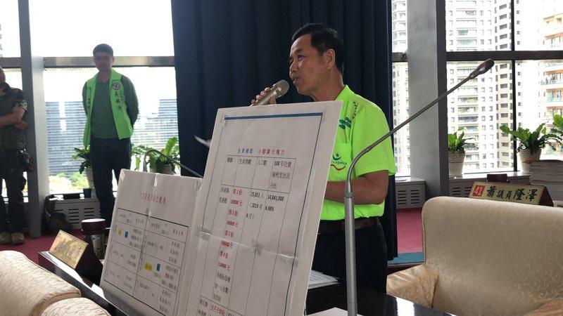 議員吳敏濟要求台中市政府正視人口減少的危機。記者陳秋雲/攝影