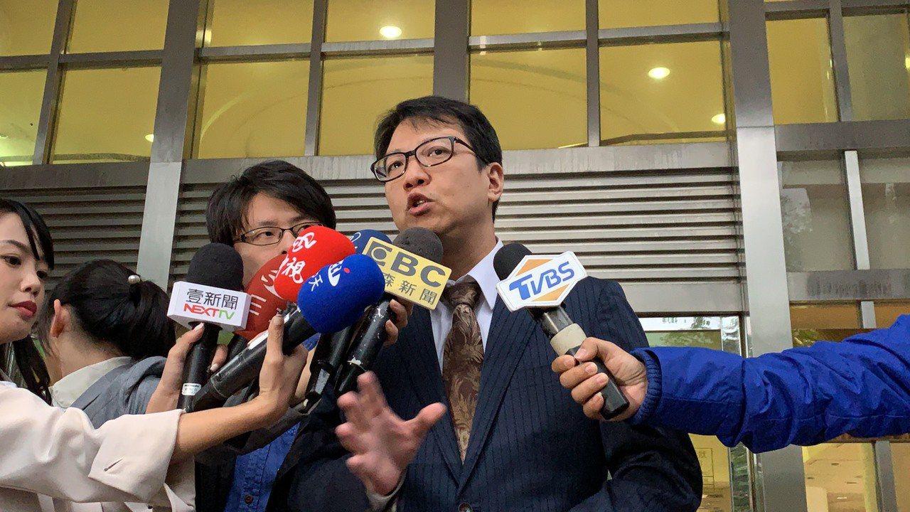 梁敏婷的律師林晉宏。記者蕭雅娟/攝影