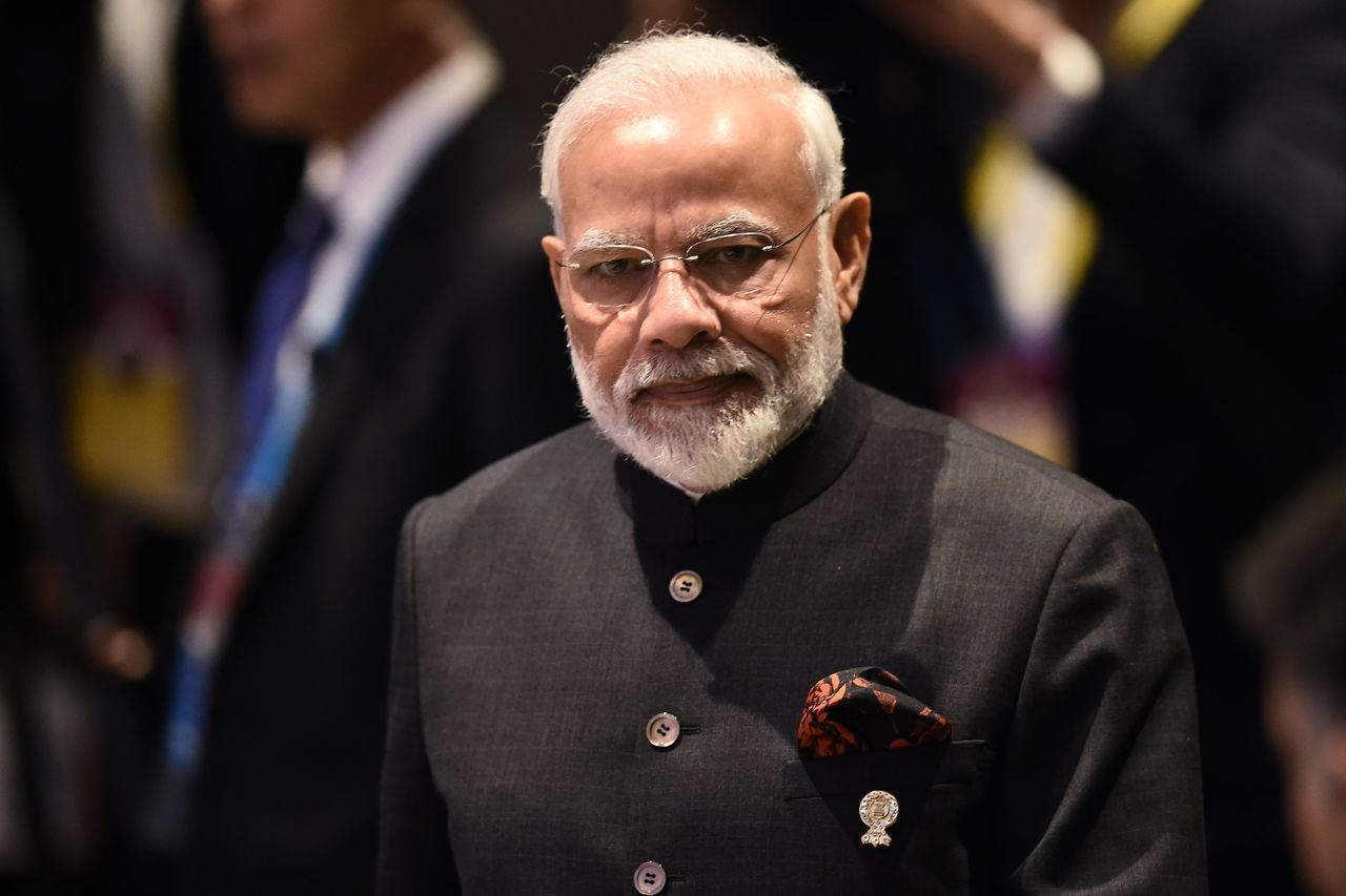 印度總理莫迪4日宣布不加入RCEP。法新社