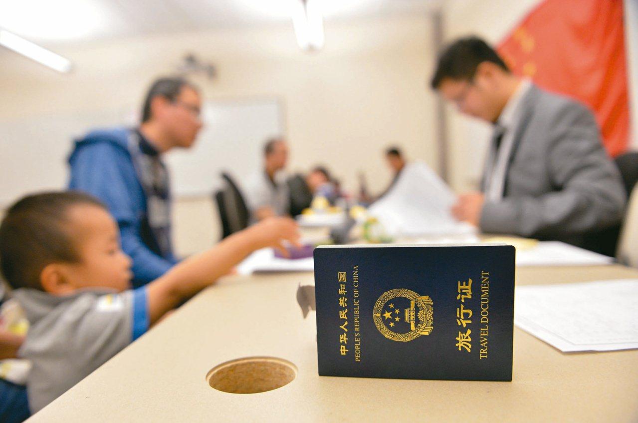 大陸宣布對台廿六條措施,台灣人民可向大陸外館尋求領事保護。圖為美國猶他州鹽湖城,...