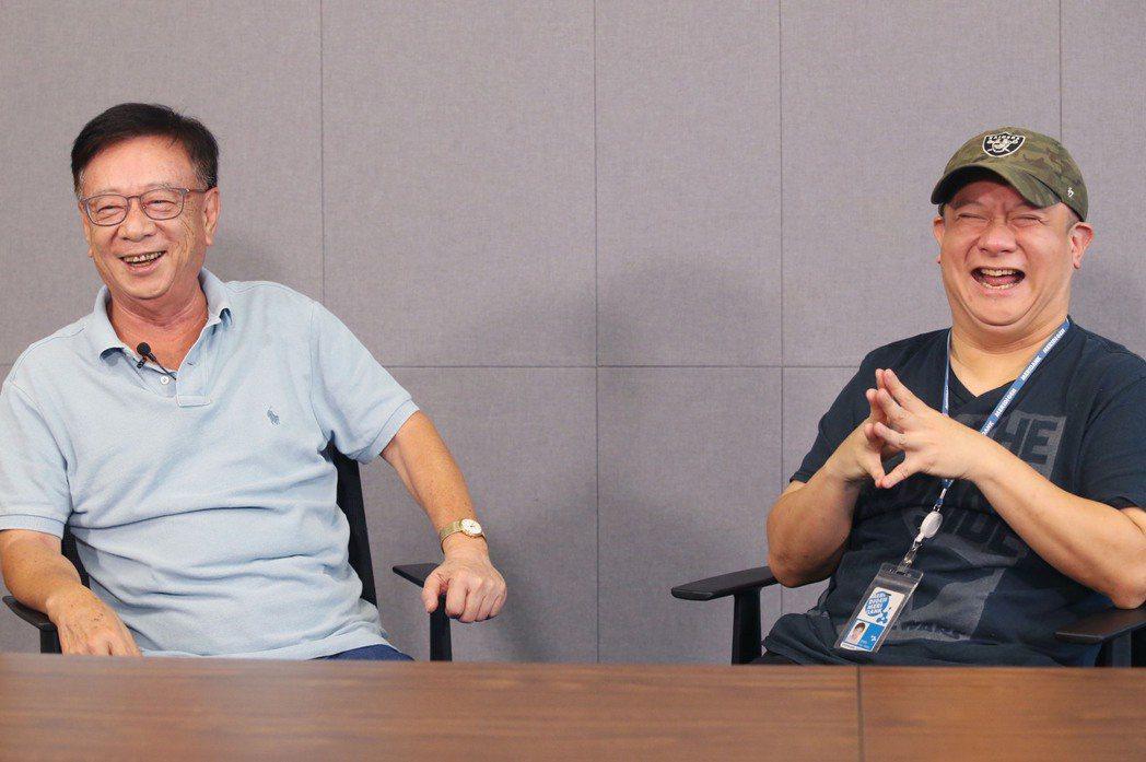 聯電榮譽副董事長宣明智(左),宣捷集團董事長宣昶有(右)。