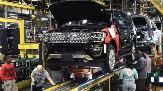 製造業對美國經濟的重要性降低。圖/美聯社