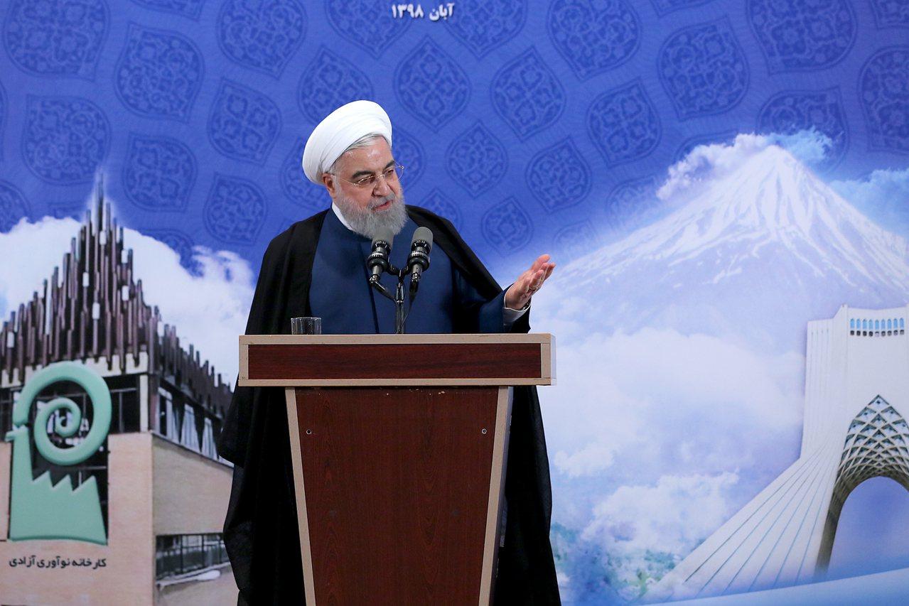 伊朗總統羅哈尼(Hassan Rouhani)。 歐新社