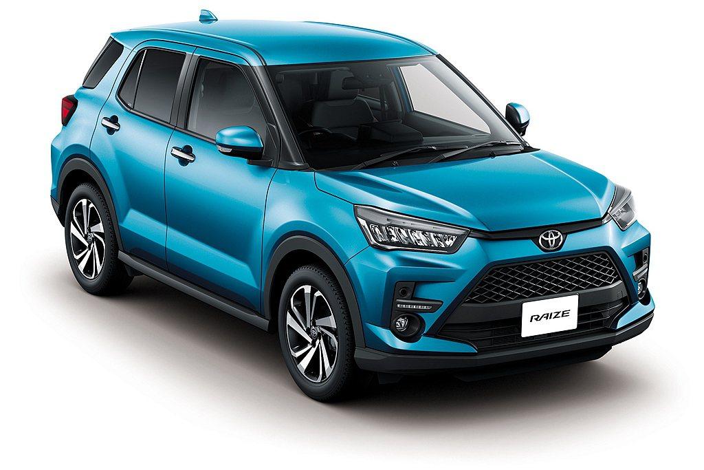 Toyota旗下最小跨界休旅Raize,日規車型正式發表。 圖/Toyota提供