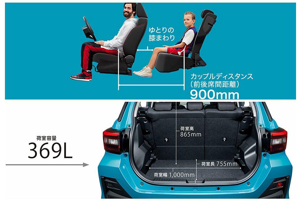 Toyota Raize後座表現不僅意外出色,還具備369L後行李箱空間表現。 ...