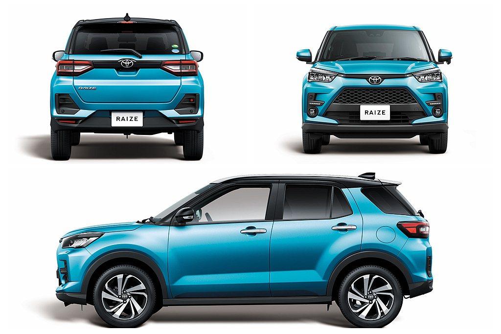 Toyota Raize外觀造型與自家RAV4風格直接連結,搭配車側飽滿的輪拱造...