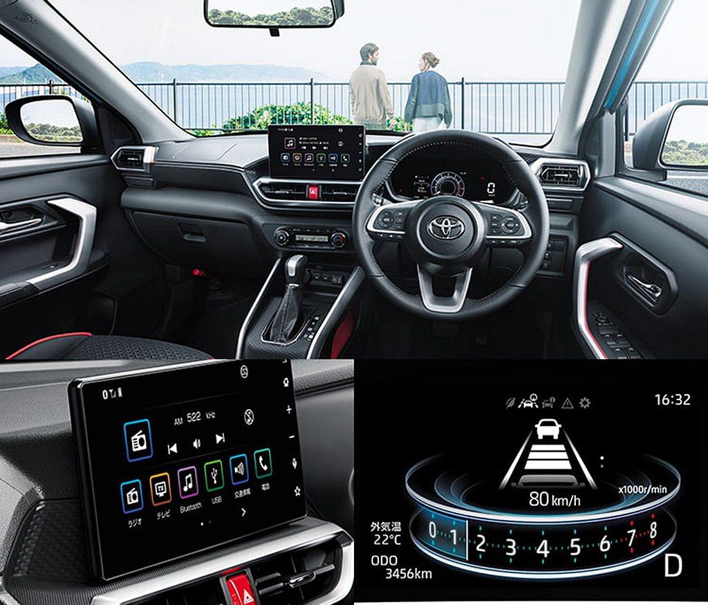 日規Toyota Raize高階車型配有四種顯示模式的TFT LED數位儀表板,...