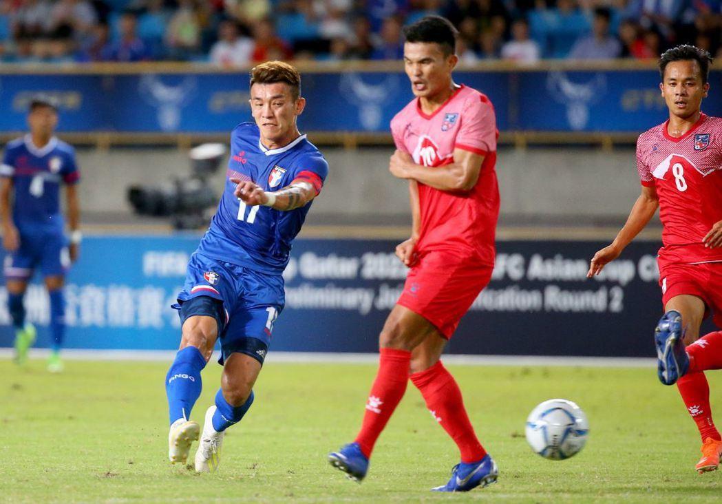 台灣選手陳柏良(左)現效力中超。 圖/聯合報系資料照