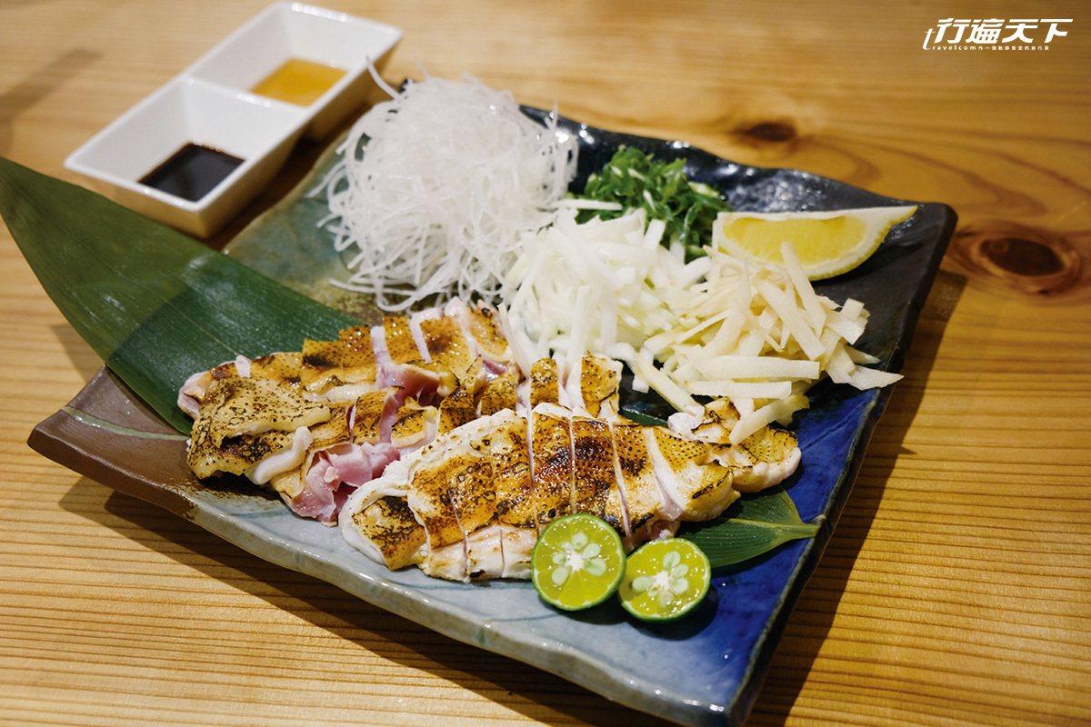 使用種子島才吃得到的Q彈英吉地雞,夠新鮮才能做成雞肉生魚片。