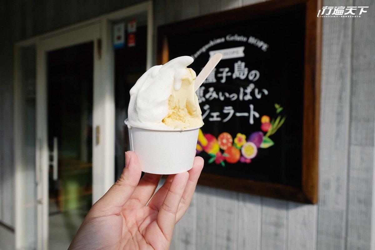 種子島物產豐饒,做出的義式冰淇淋散發濃濃鮮滋味。