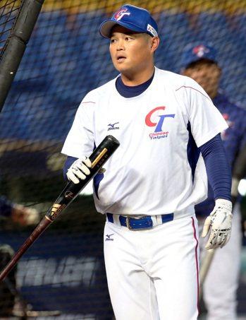 2019年世界12強棒球賽團隊練習,隊長胡金龍。記者侯永全/攝影