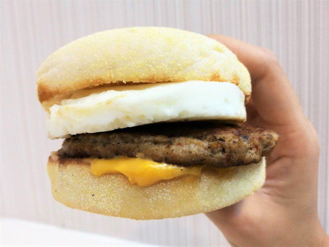 絞肉漢堡示意圖。記者羅真/攝影