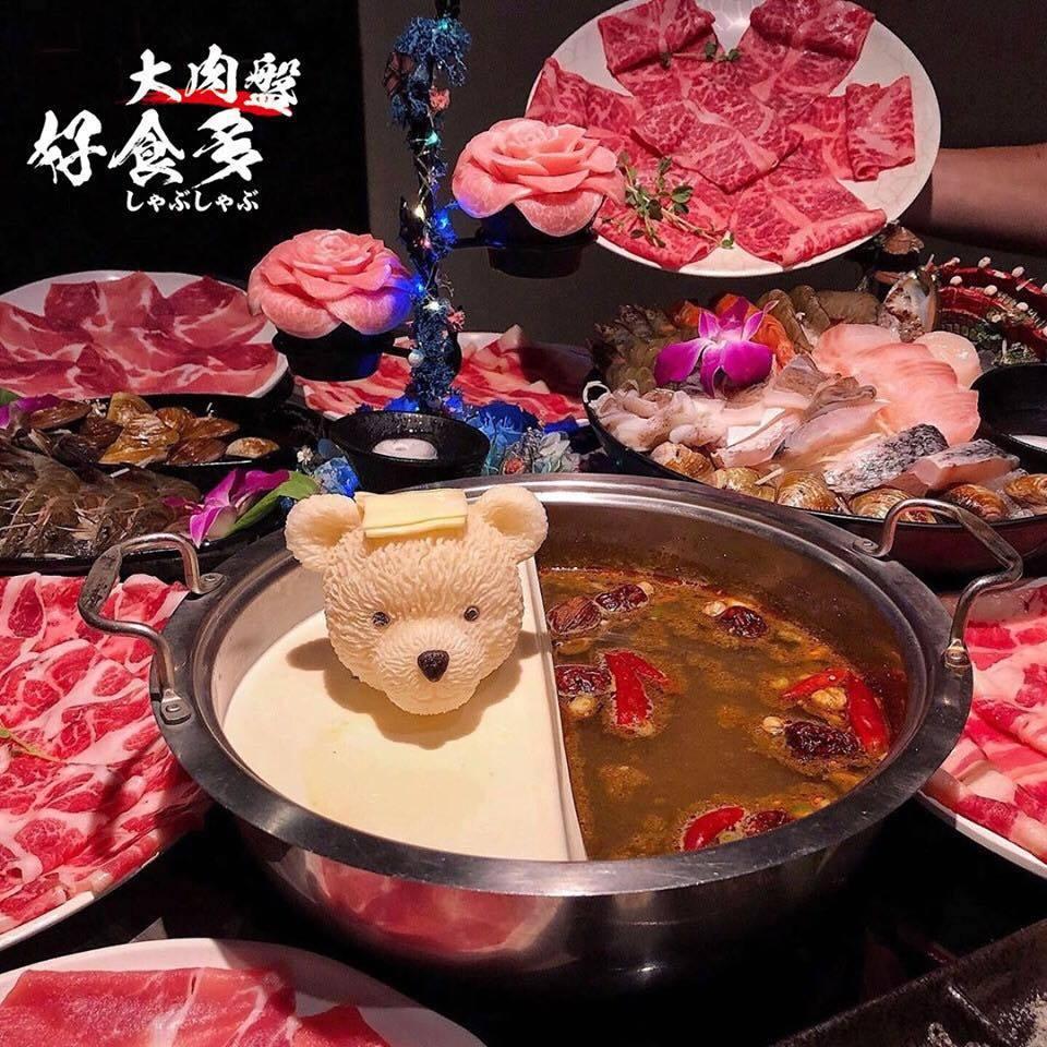 限定版「牛奶泰迪熊」頭上頂著起司片,吸睛度爆表。圖/取自好食多涮涮屋-雙城店臉書