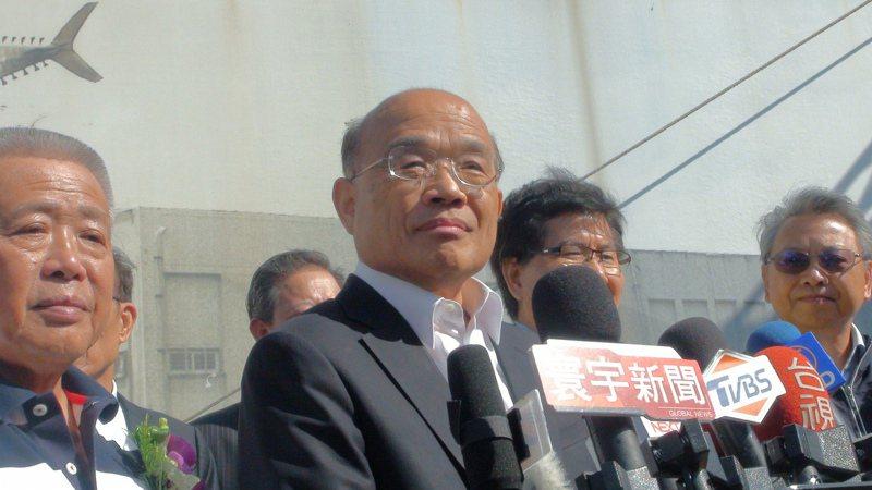 行政院長蘇貞昌。聯合報記者余采瀅/攝影