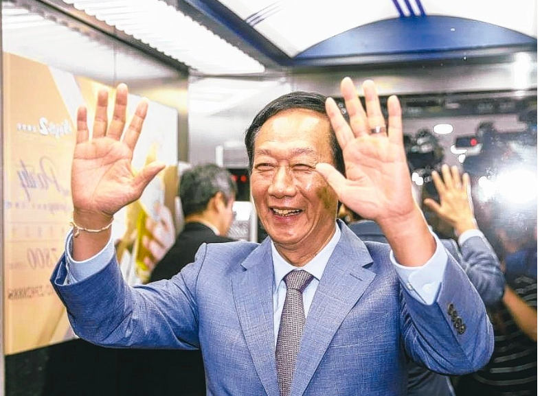 鴻海創辦人郭台銘。聯合報系記者鄭超文/攝影
