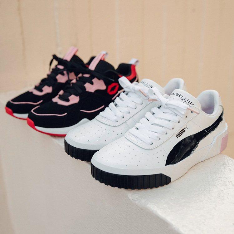 PUMA Nova x Maybelline鞋款(左)售價3,280元、PUMA...