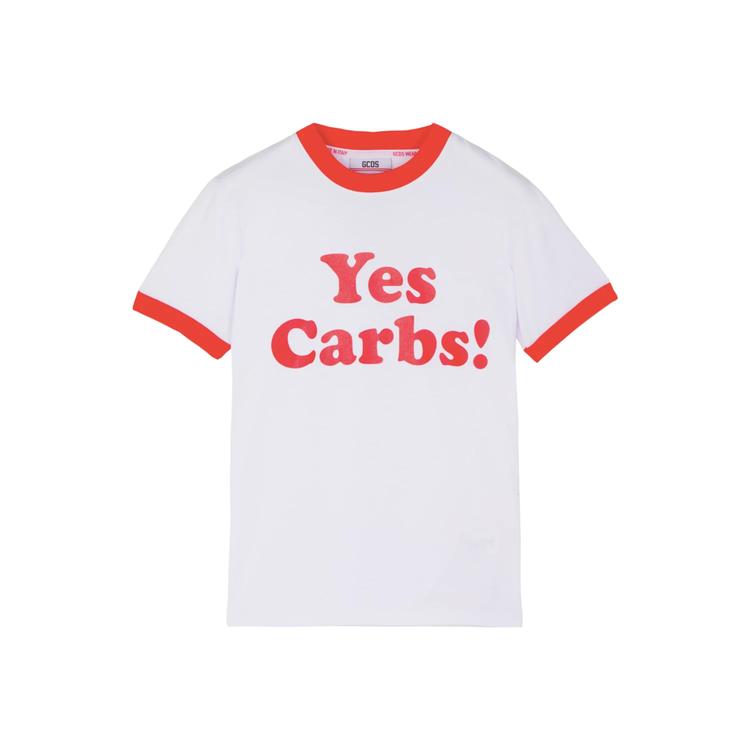 GCDS X Barilla Yes Carbs標語T,售價5,900元 。圖/...
