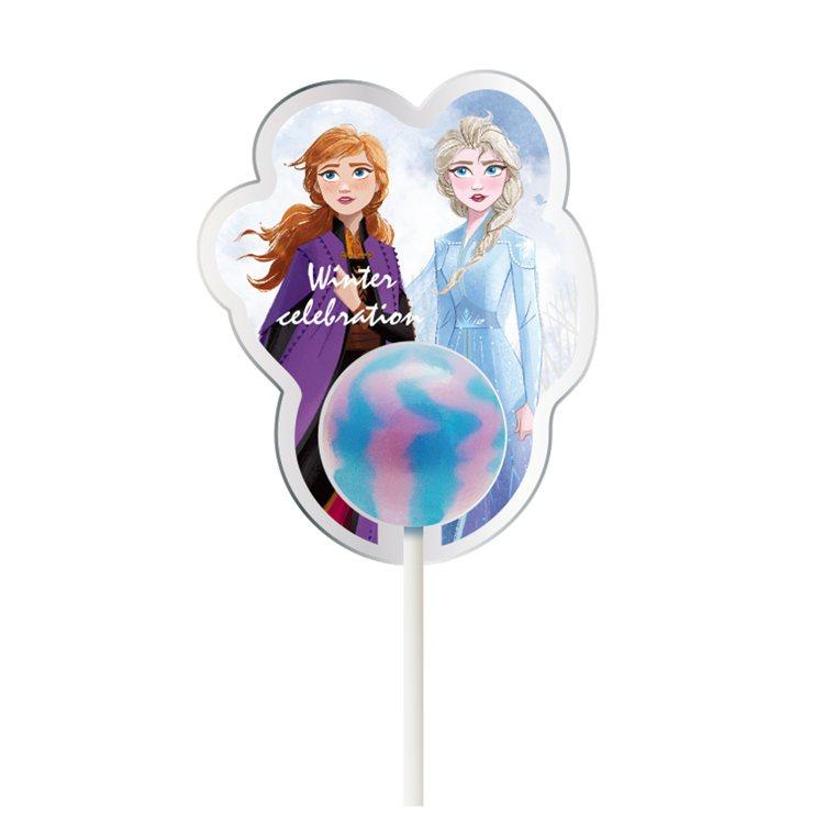 全家便利商店推出「冰雪奇緣2」美味星棒棒糖,每款售價69元。圖/全家便利商店提供
