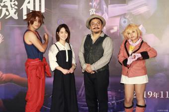 首次為動畫電影配音的演員嚴正嵐(左二)與導演北村豐晴(右二)。記者黃義書/攝影