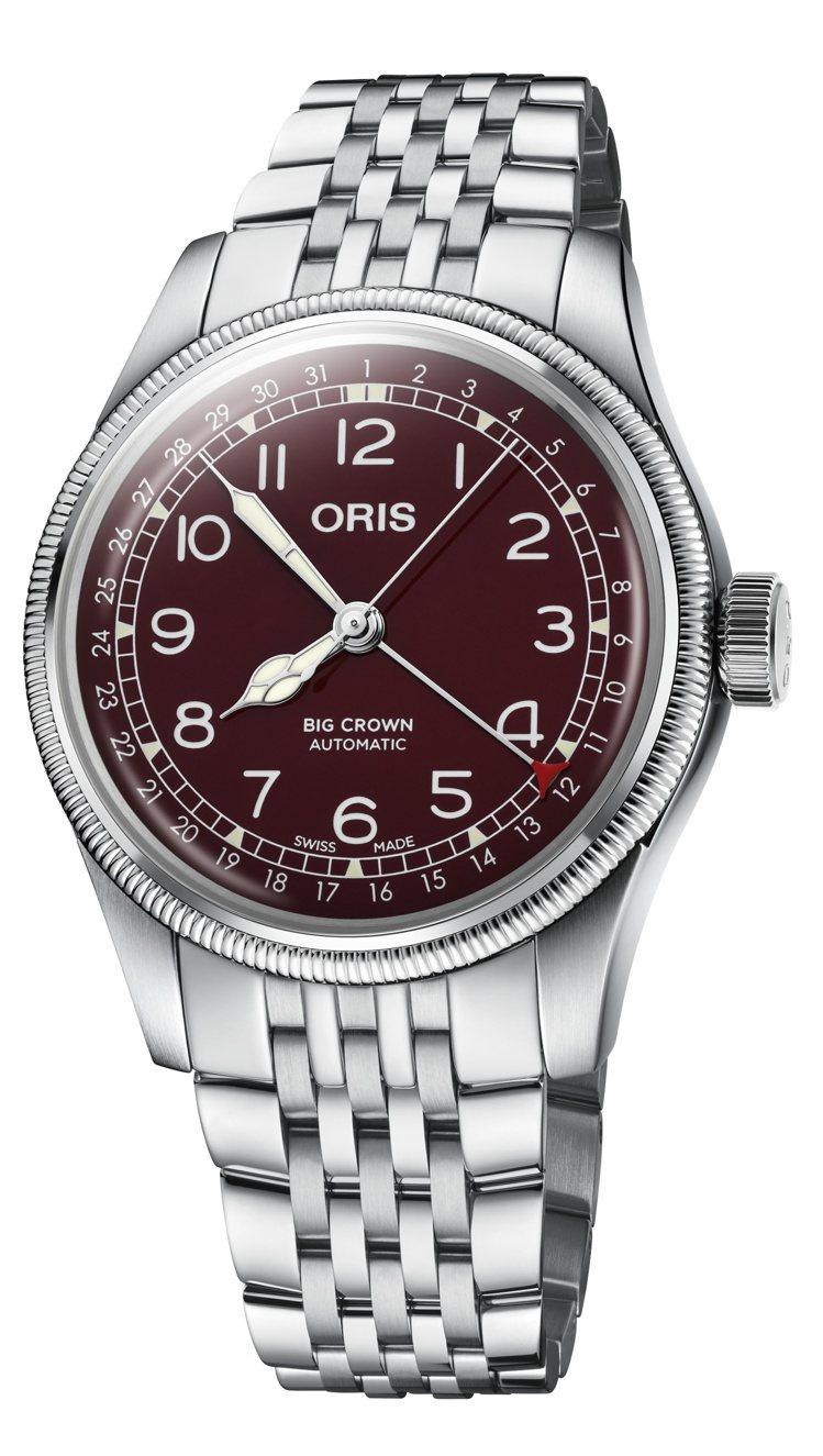 ORIS Big Crown指針式日期腕表,不鏽鋼表殼、表鍊,約49,000元。...
