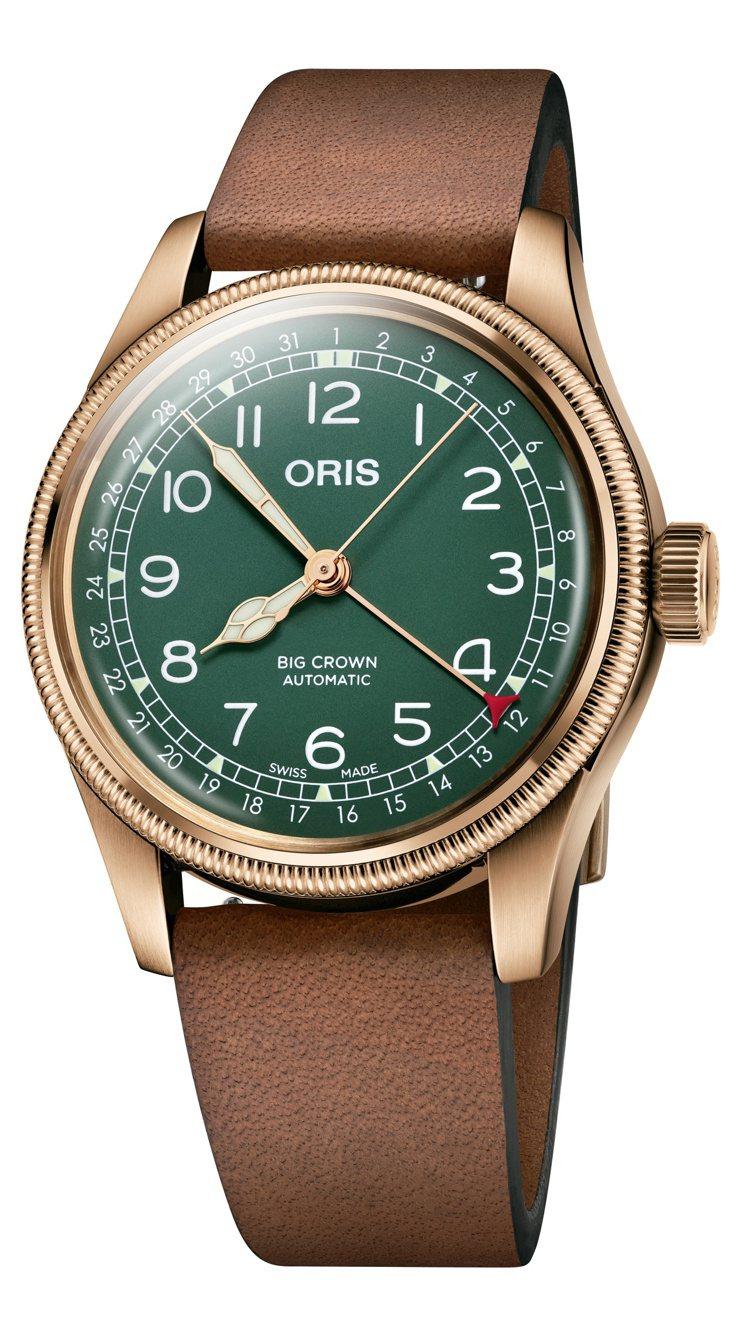 ORIS Big Crown指針式日期腕表80周年紀念款,青銅表殼、表冠、表圈,...