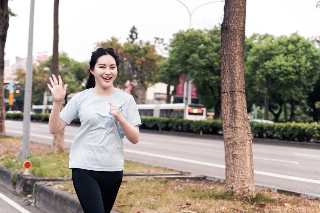 王語昕挑戰9K馬拉松。圖/JMS蔣三省音樂公司提供