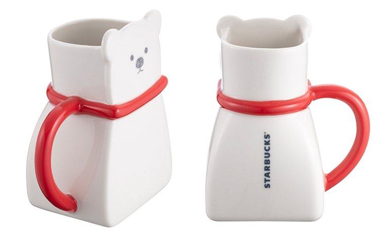 北極熊造型馬克杯,售價480元。圖/星巴克提供