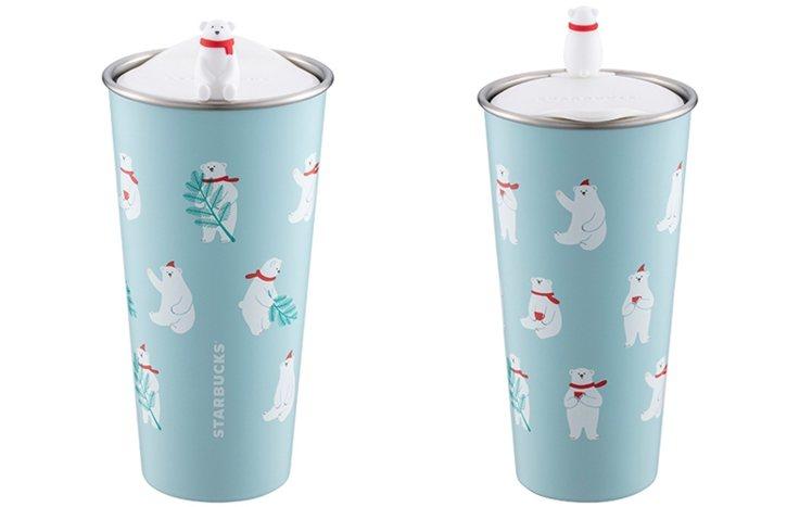 北極熊TOGO不鏽鋼杯,售價1,380元。圖/星巴克提供