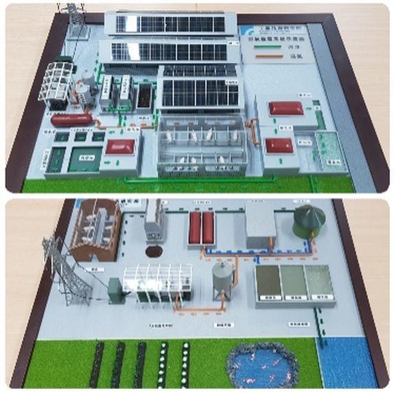 沼氣發電推動計畫辦公室提供不同的設計模組,提供養豬業者參考。 李福忠/攝影
