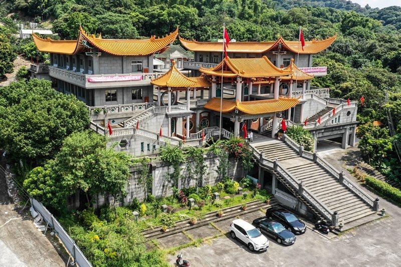 彰化縣二水鄉碧雲禪寺拆除前,曾是五星旗飄揚的中國愛國教育基地,攝於2018年。 圖/聯合報系資料照