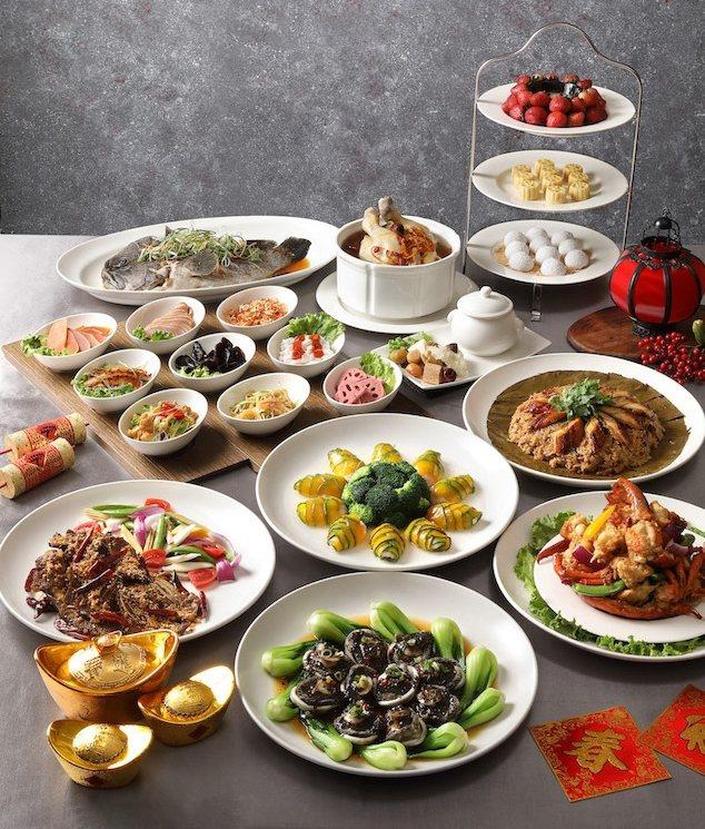北投麗禧尾牙春酒桌菜頂級菜色,早鳥預訂可獲5折住宿券。 業者/提供
