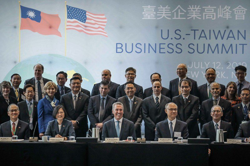 2019年7月,蔡英文總統出席在紐約舉辦的臺美企業高峰會。 圖/美聯社